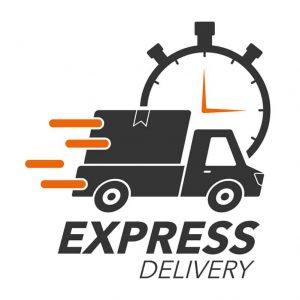 Express delivery icon concept. Pickup with stop watch icon for service, order, fast, free and worldwide shipping. Modern design vector illustration.